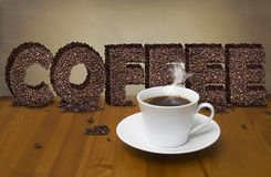 Coffee cup with coffee sign Stock Image
