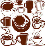 Coffee Cup Collection Royalty Free Stock Photo