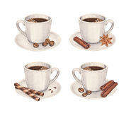 Coffee cup collection Royalty Free Stock Images