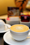 Coffee Cup Compliments. Coffee Cup as is usually offered in Hotel Rooms Stock Photography