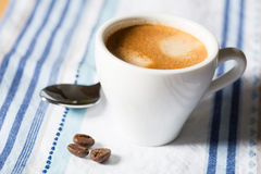 Coffee cup. Composition with white cup of coffee Royalty Free Stock Photos