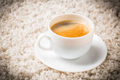 Coffee cup. Composition with white cup of coffee Stock Image