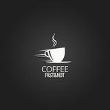 Coffee cup concept design background Royalty Free Stock Photo