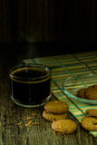 Coffee cup and cookie Stock Image