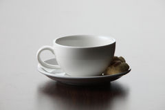 Coffee cup with cookies Royalty Free Stock Images