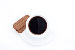 Coffee cup and cookies Stock Photography