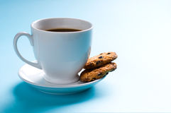 Coffee cup with cookies Stock Photo