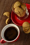 Coffee cup and cookies Stock Images