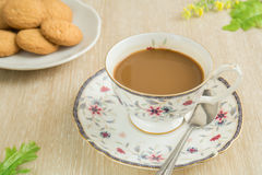Coffee cup with cookies Royalty Free Stock Photo