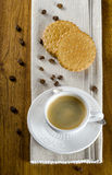 Coffee cup and cookies Royalty Free Stock Image