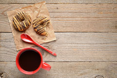Coffee cup and cookies Stock Photo