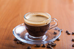 Coffee cup crema. A traditional drink Royalty Free Stock Images