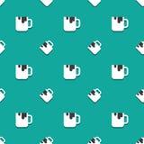 Coffee Cup Crisp Drink Seamless Pattern. Coffee Cup Crisp Drink Full Cup Seamless Pattern vector illustration
