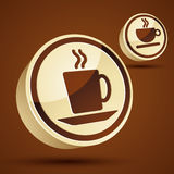 Coffee cup 3d vector icon. Stock Images