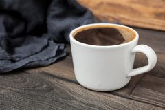 Coffee cup on dark background. For your design Royalty Free Stock Images