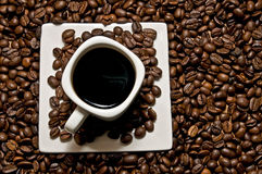 Coffee cup with decoration Stock Images