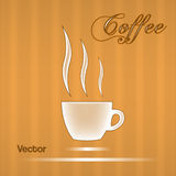 Coffee cup  design for background. Royalty Free Stock Photography