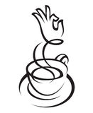Coffee cup design Stock Photo