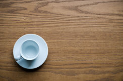 Coffee cup on desk Royalty Free Stock Photo