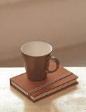 Coffee cup with diary Royalty Free Stock Photos