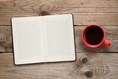 Coffee cup and diary Royalty Free Stock Photo