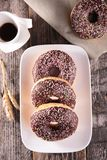 Coffee cup and donuts Royalty Free Stock Photography