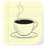 Coffee Cup Doodle Royalty Free Stock Photos