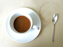 Coffee cup. Dregs in the bottom of the cup, with stains Stock Photography