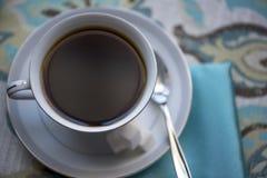 coffee cup dressing girl gown morning white Στοκ Φωτογραφία