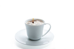 Coffee cup with drop. On white background Stock Images
