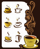Coffee cup elements and collection for design Royalty Free Stock Photo