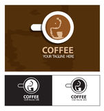 Coffee cup elephant drink logo Royalty Free Stock Photography