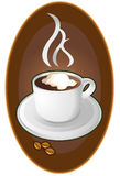 Coffee cup emblem Stock Images