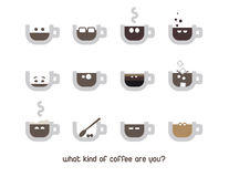 Coffee cup emotion. Coffee cups with emotion. Also avaiable as vector Royalty Free Illustration