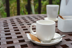 Coffee cup and equipment Stock Image
