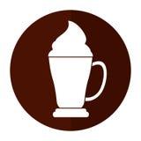 Coffee cup espresso cream shadow Stock Photo