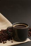 Coffee Cup Filled with Beans Royalty Free Stock Photo