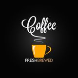 Coffee cup flavor design background Royalty Free Stock Images