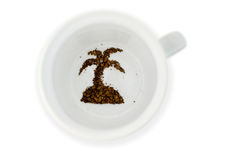 Coffee cup - Fortune telling vacation Stock Photos