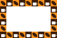Coffee cup frame. Coffee cup and coffee bean frame Stock Photo