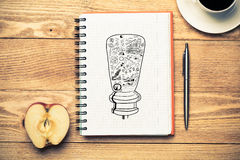 Coffee cup for fresh idea Royalty Free Stock Photography