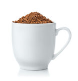 Coffee cup full of Instant coffee granules Stock Photos