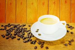 Coffee. Cup and gain with aromatic Stock Photography