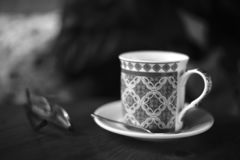 Coffee cup and glasses royalty free stock images