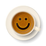 Coffee cup for good mood Stock Photos