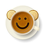 Coffee cup for good mood Royalty Free Stock Images