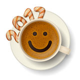 Coffee cup for good mood in new 2017 year Stock Photography