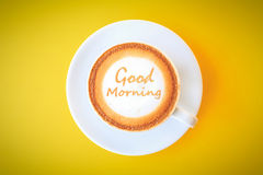 Coffee Cup. Good Morning.Cup of coffee Royalty Free Stock Images