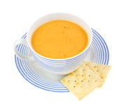Coffee cup with gouda cheese soup Royalty Free Stock Photography