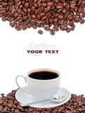 Coffee cup and grain Royalty Free Stock Photography